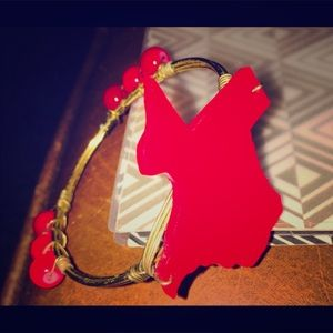 Jewelry - ❤️✨Texas Red & Gold Bracelet